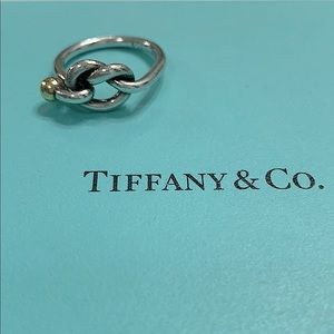 Authentic Tiffany & Co Love Knot Ring. Size 5.5